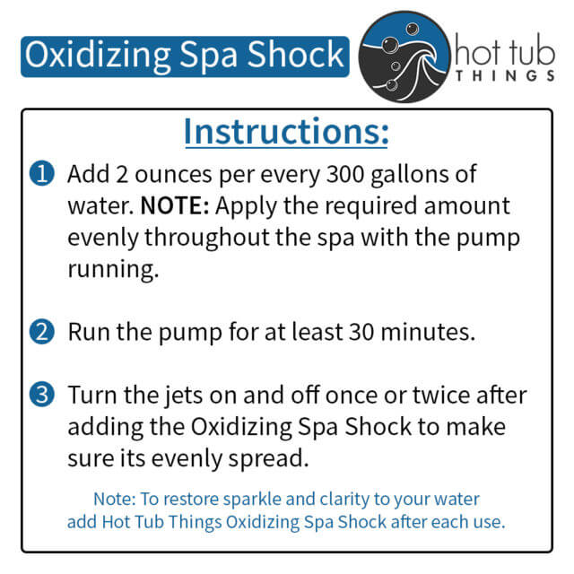 Oxidizing Spa Shock Instructions