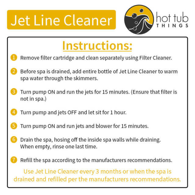 Jet Line Cleaner Instructions